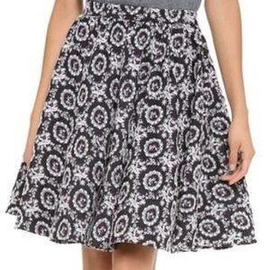 Alice Olivia Garrie Embroidered Full Skirt